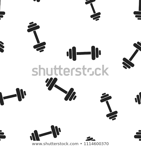 sports seamless background from a barbell vector pattern for bo ストックフォト © popaukropa