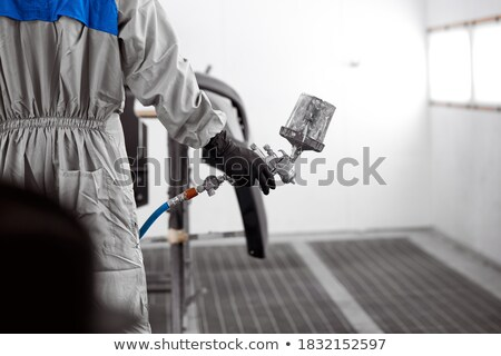 Worker ready to paint a car close up. Stock photo © IS2