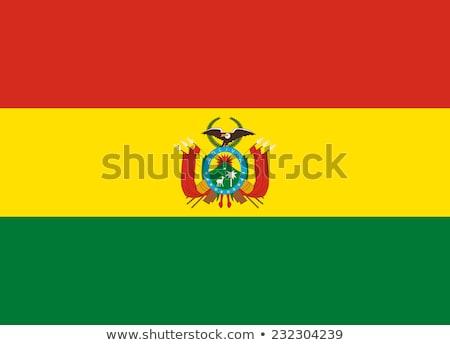 Bolívia zászló fehér világ festék művészet Stock fotó © butenkow