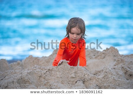 Enfants île illustration plage eau Photo stock © bluering