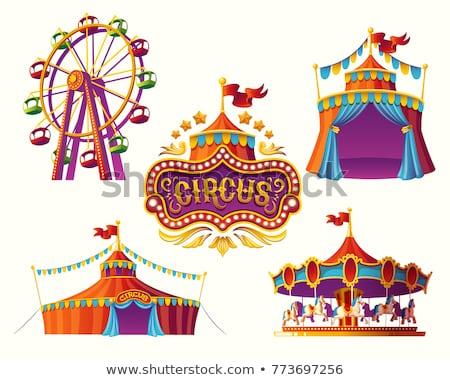 Set divertimento fiera tenda illustrazione sfondo Foto d'archivio © bluering