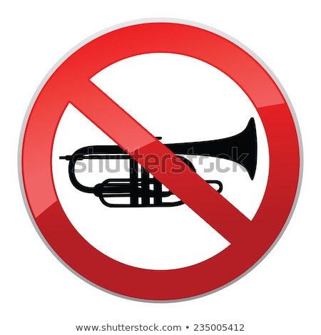 No sound sign. Keep Quiet symbol. Loud sounds ban Stock photo © Terriana