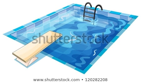 vector summer background with swimming pool water and wooden dec Stock photo © freesoulproduction