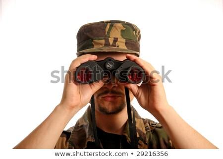 Soldado mirando ejército militar servicio Foto stock © dolgachov