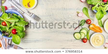 radijs · houten · tafel · bos · vers · bruin · tuin - stockfoto © CsDeli