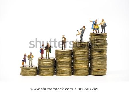 コイン · ビジネス · お金 · テクスチャ · 金属 · 金融 - ストックフォト © nito