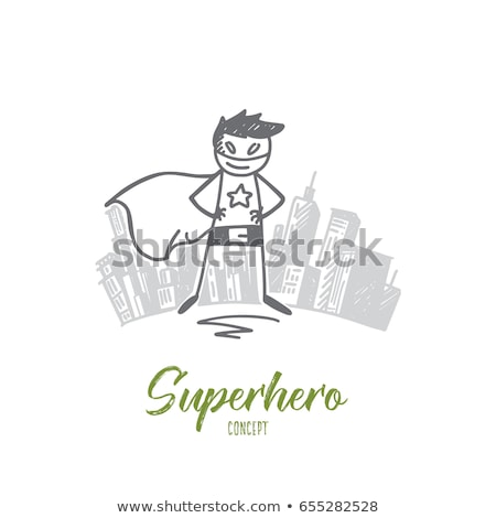 Stick figures with letters and power Stock photo © Ustofre9