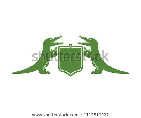 crocodilo · escudo · símbolo · real · jacaré · casaco - foto stock © maryvalery