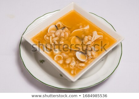 Fabes con almejas beans with clams recipe Asturias Stock photo © lunamarina