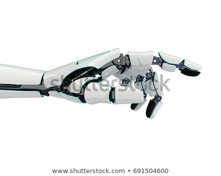 Robotic Hands Connecting Gears Stock photo © AndreyPopov