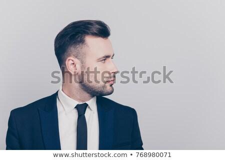 肖像 ハンサム 若い男 タキシード 見える サイド ストックフォト © feedough
