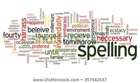 İngilizce · kelime · hazinesi · kelime · mutlu · arka · plan · mektup - stok fotoğraf © bluering