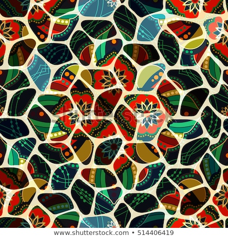 Foto stock: Colored Seamless Tile Pattern Fantastic Kaleidoscope