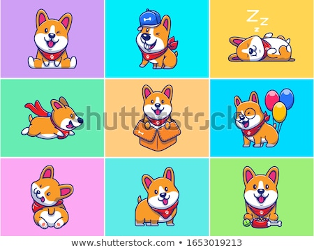 Cartoon Smiling Baseball Player Puppy Stock photo © cthoman