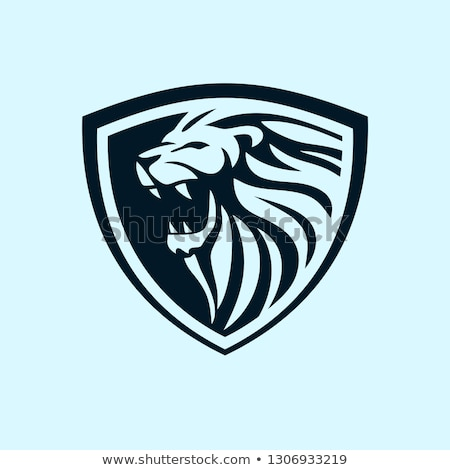 Vector black lions 01 Stock photo © Genestro