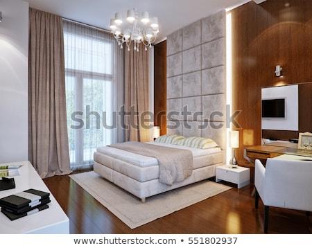 спальня интерьер мебель Сток-фото © iriana88w