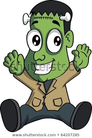 Cartoon Frankenstein Sitting Stock photo © cthoman