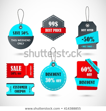 Vector tickets, banner, label Coupon sale, offers and promotions vector template Stock photo © Natali_Brill