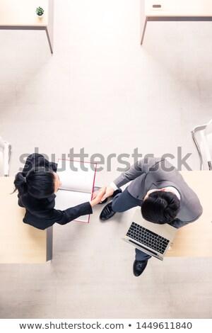 Asian business paar zakenman vrouw Stockfoto © yongtick