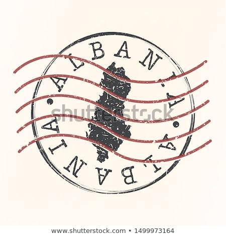 Albânia mapa vetor logotipo ícone projeto Foto stock © blaskorizov