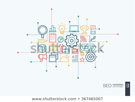 social media marketing   modern line design style illustration stock photo © decorwithme