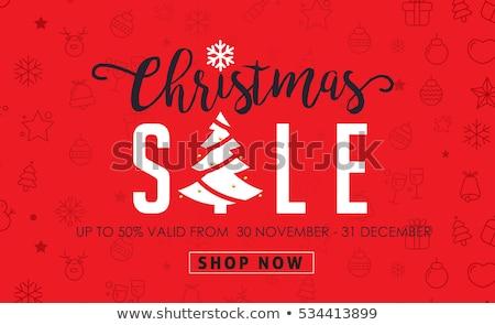 Weihnachten Verkauf Schriftkunst Set Typografie Stock foto © JeksonGraphics