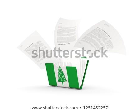 Folder with flag of norfolk island Stock photo © MikhailMishchenko
