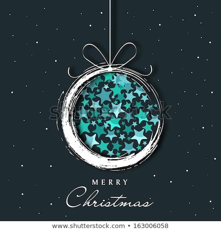 lovely blue shiny christmas flyer design with snowflakes Stock photo © SArts