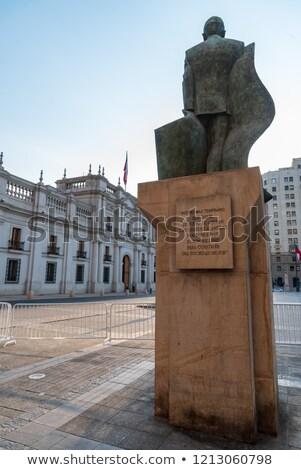 Estatua Santiago Chile cuadrados palacio Foto stock © boggy