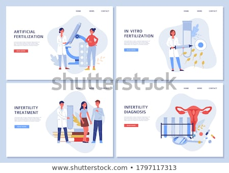 Stock photo: Artificial reproduction concept landing page.