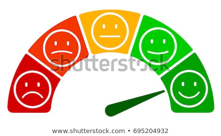 Set of positive and negative round emoji icons Stock photo © MarySan