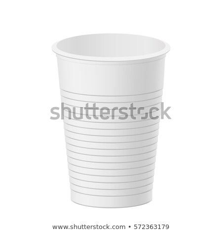 One Plastic Cup on White Stock photo © make