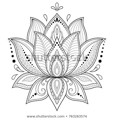 Indian Vektor Muster Henna Tattoo Stock foto © RedKoala