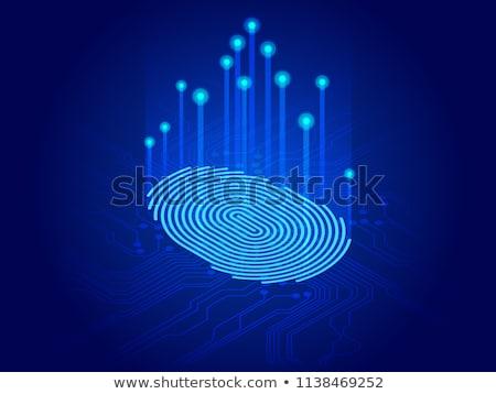 acessar · controlar · isométrica · impressão · digital · segurança - foto stock © kyryloff