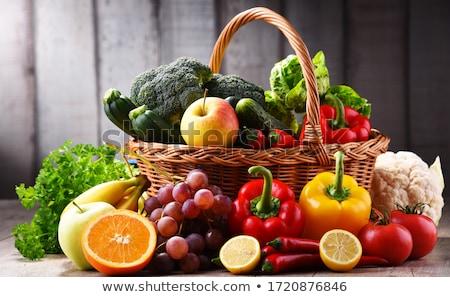 多くの · 果物 · いたずら書き · スタイル · 食品 · 手 - ストックフォト © colematt