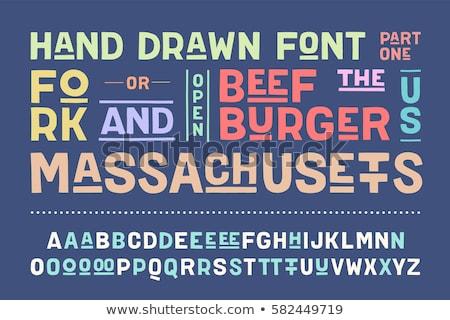 Alfabe düzenli harfler güçlü moda Stok fotoğraf © FoxysGraphic