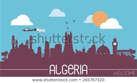 House with flag of algeria Stock photo © MikhailMishchenko
