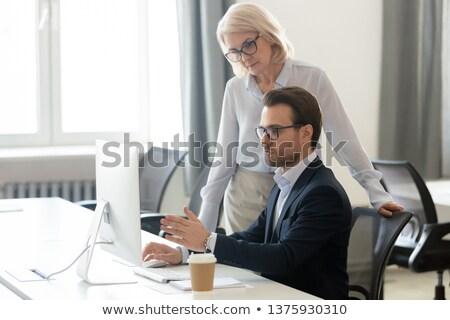 Patron nouvelle travailleurs Emploi affaires travail Photo stock © robuart