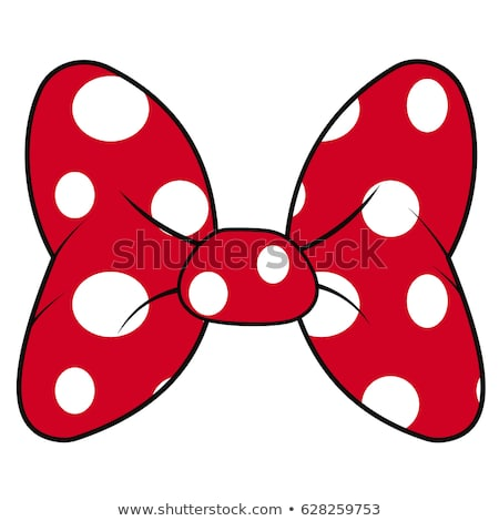 Vector Polka Dot Bow with Ribbon Stock photo © dashadima