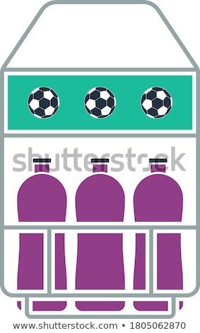 Terrain de football bouteille contenant icône design Photo stock © angelp