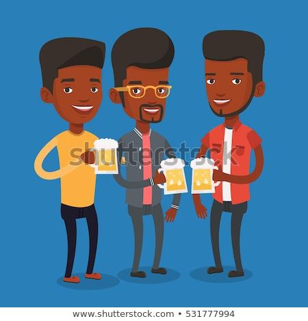 Personas relajante potable alcohol pub vector Foto stock © robuart