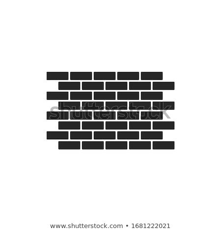 simple · pared · de · ladrillo · patrón · estilo · marrón · papel - foto stock © biv