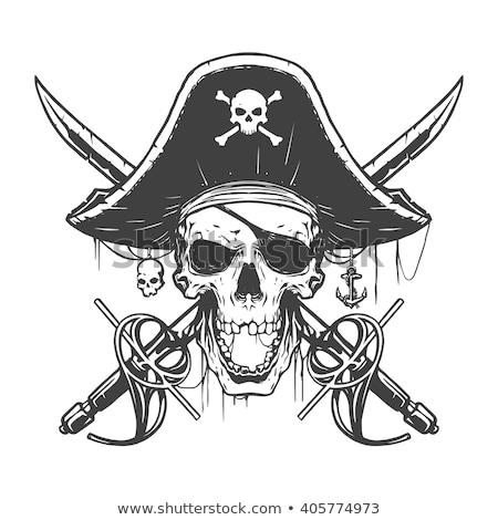 pirate skull and crossbones cartoon stock photo © krisdog