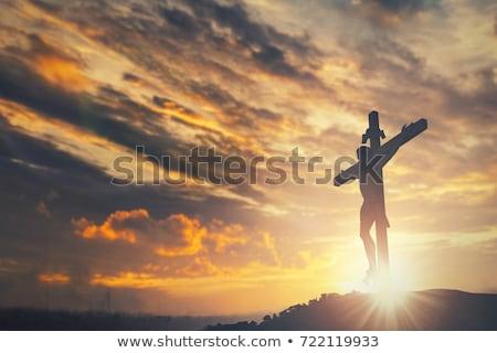イエス クロス 暗い 宗教 祈っ アイコン ストックフォト © FOKA
