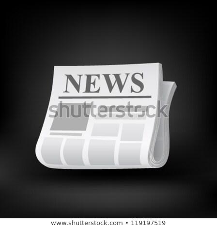 Sport újság sajtó ikon szürke átlátszó Stock fotó © romvo