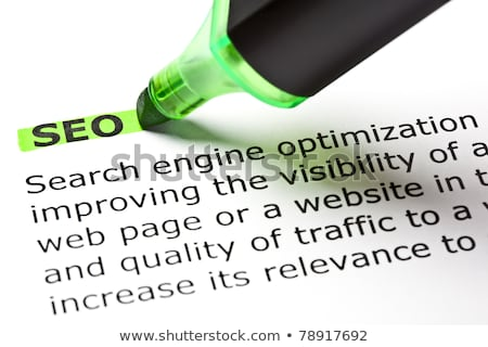 Stock photo: 'SEO' highlighted in green
