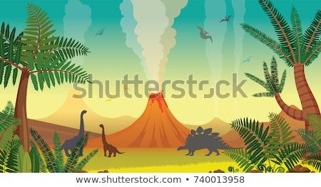 correspondente · dinossauro · sombra · fundo · arte · desenho - foto stock © bluering