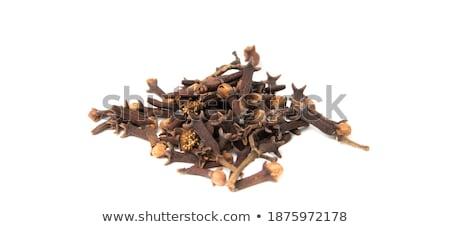 carnation grains, herbal medicinal herbs, dry carnation grains in a dish Stock photo © galitskaya