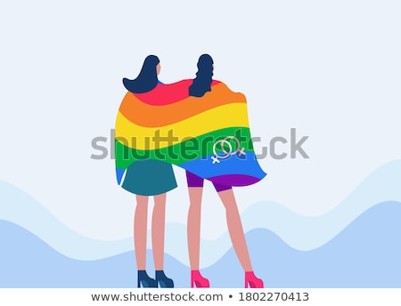 小さな · 人 · トランスジェンダー · 誇り · フラグ · 白人 - ストックフォト © nito