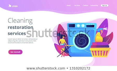 Dry cleaning and laundering app interface template. Stock photo © RAStudio